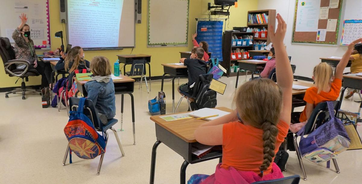 Second-graders at Traphill Elementary