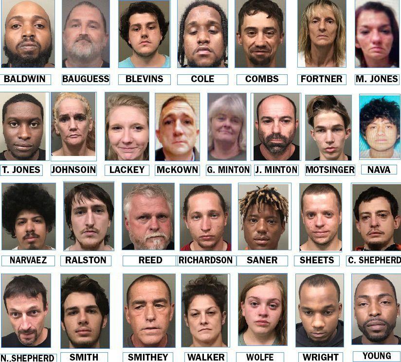 Latest drug arrests