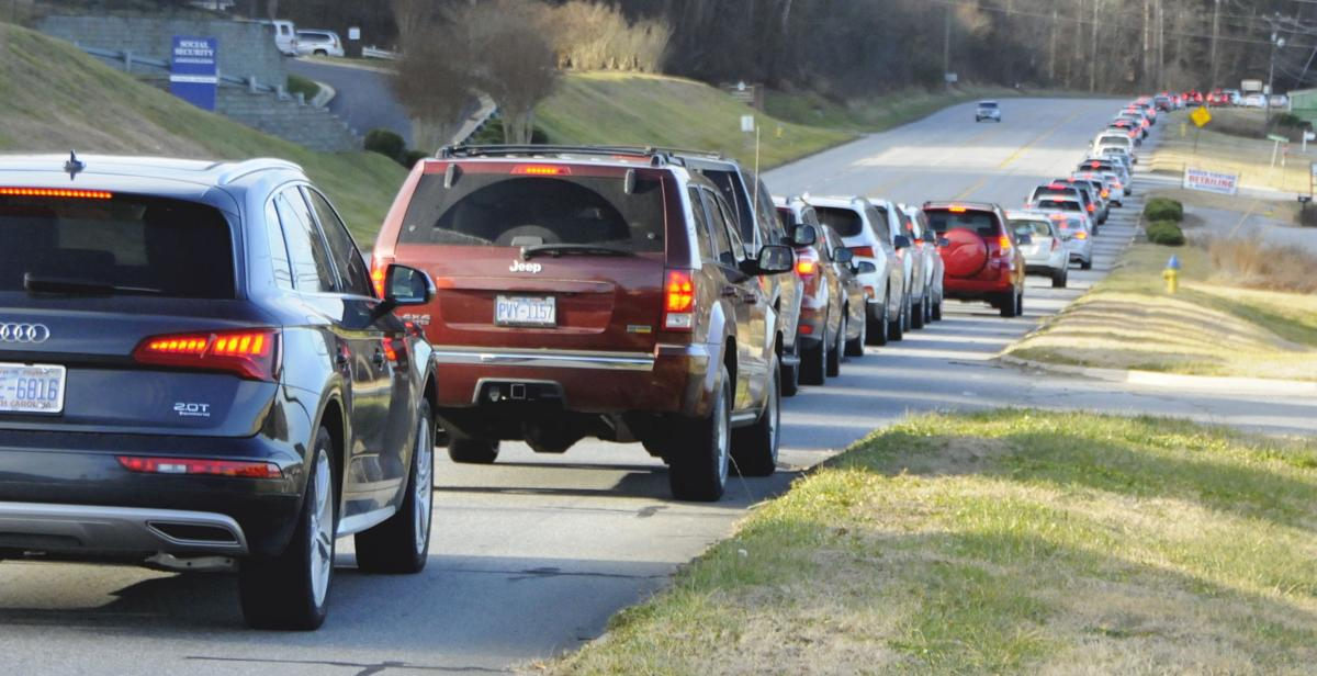 Lined up on N.C. 268 West