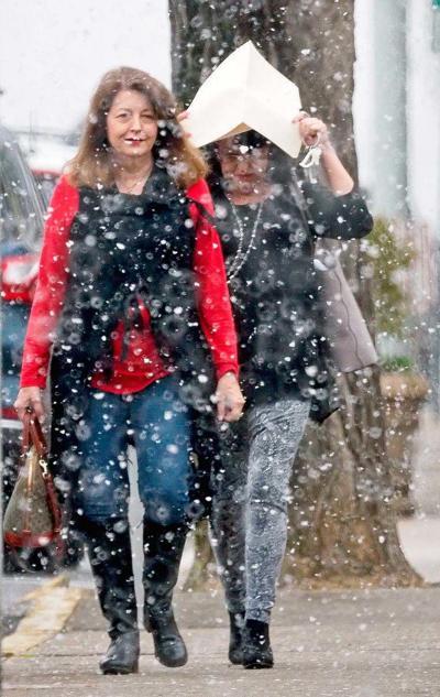 Ladies in snow