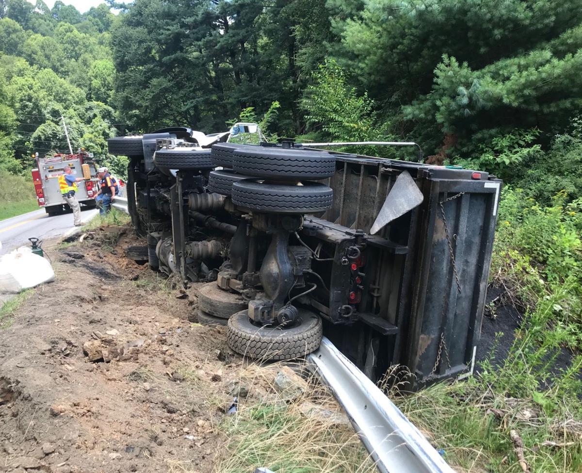 Asphalt truck wrecks