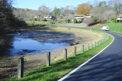 Pond drained for inspections