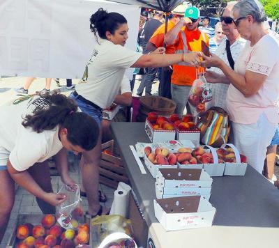 Brisk peach sales