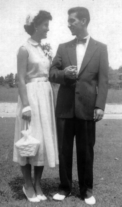 66 years ago... Allen and Shirley Carter