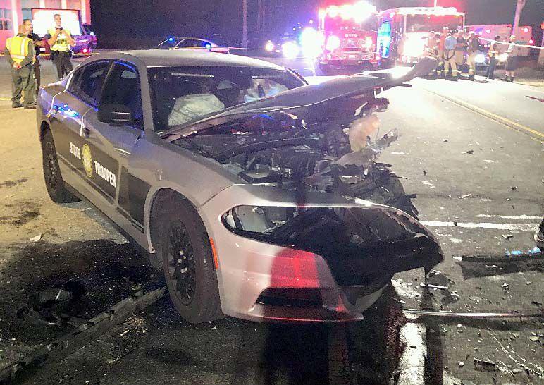 DAMAGED PATROL CAR