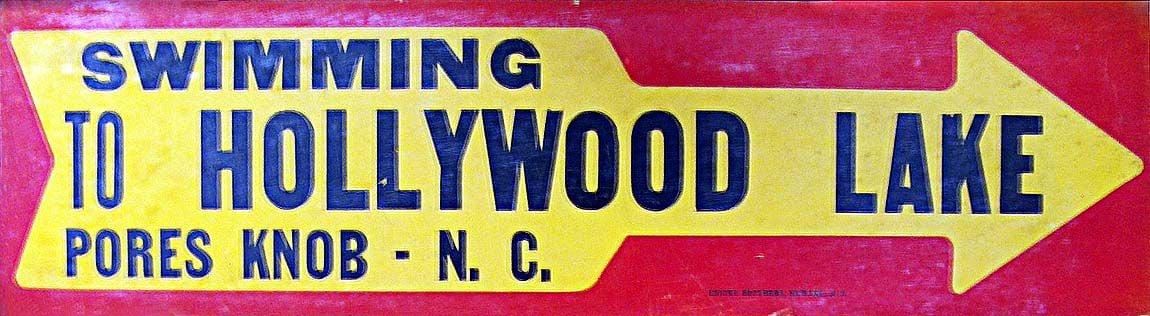 Hollywood Lake sign
