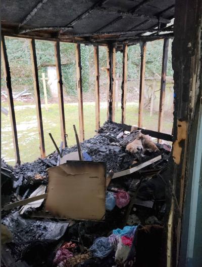 Mobile home damaged