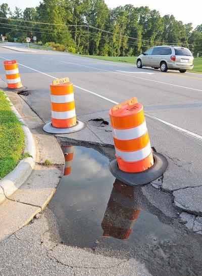 Hole on Oakwoods Road