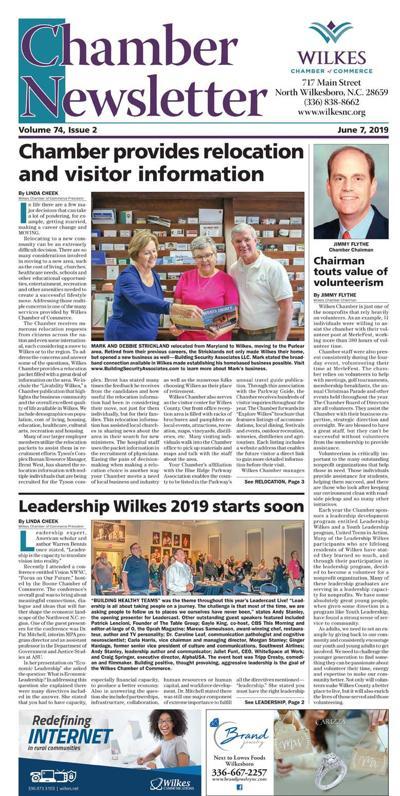 June Chamber Of Commerce News Letter
