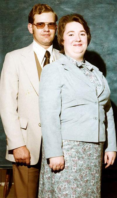 EARLIER PHOTOGRAPH... CHARLIE AND JOYCE BROWN