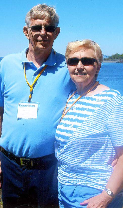 Mr. and Mrs. Manuel Brown in Bar Harbor, Maine