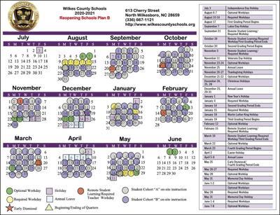 2020-21 school calendar 2