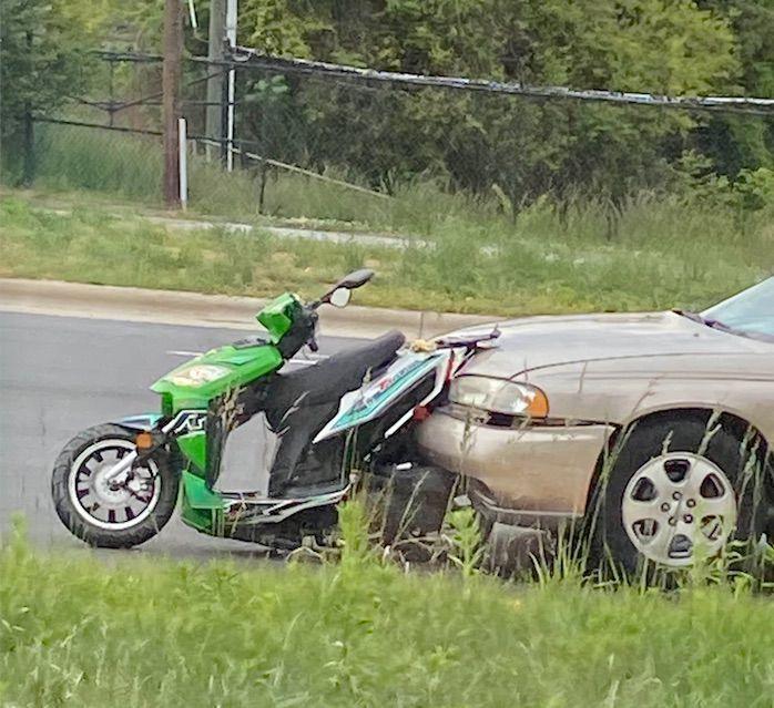 Moped struck