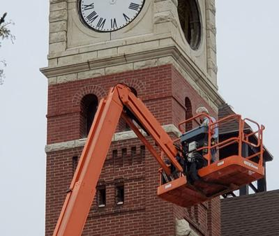 Opera House's clock and bell tower under renovation