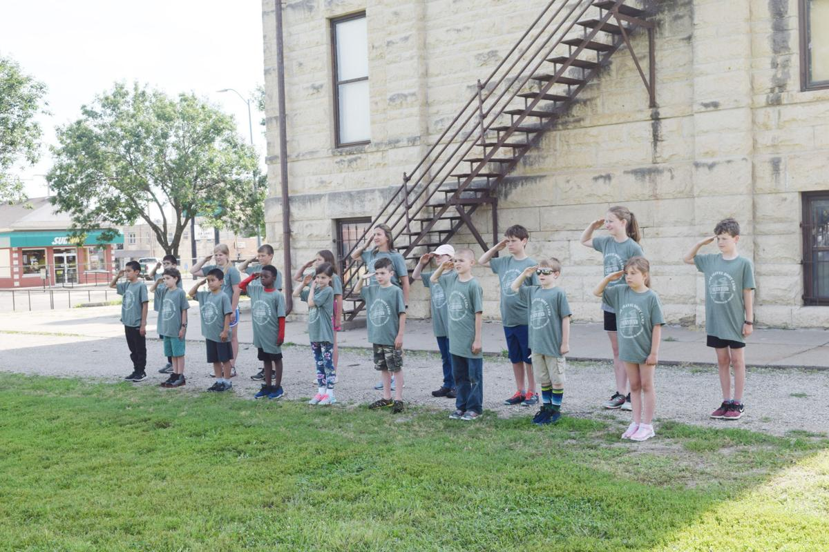 Local JROTC members conduct boot camp for kids