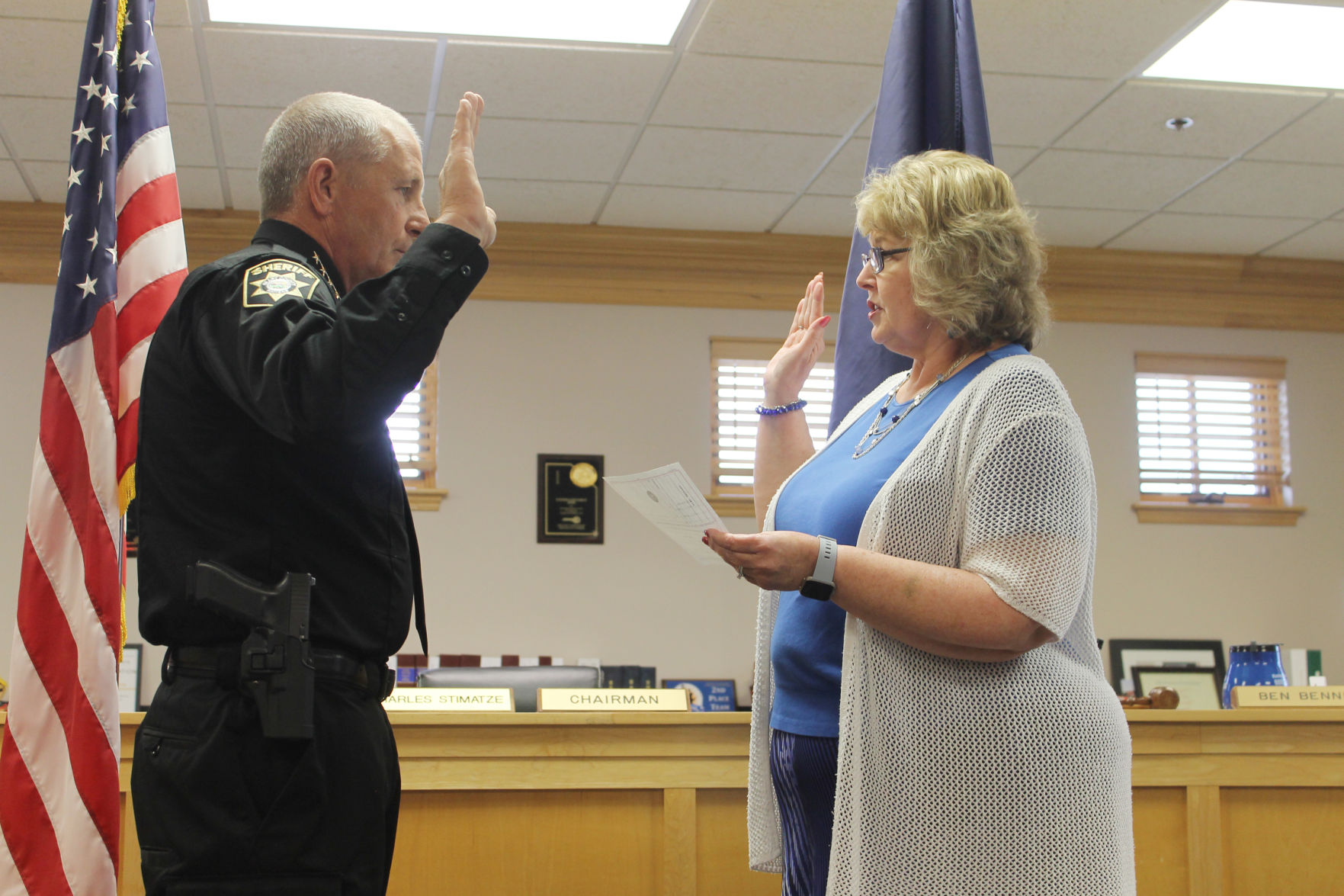 Jackson sworn in as Geary County's new sheriff