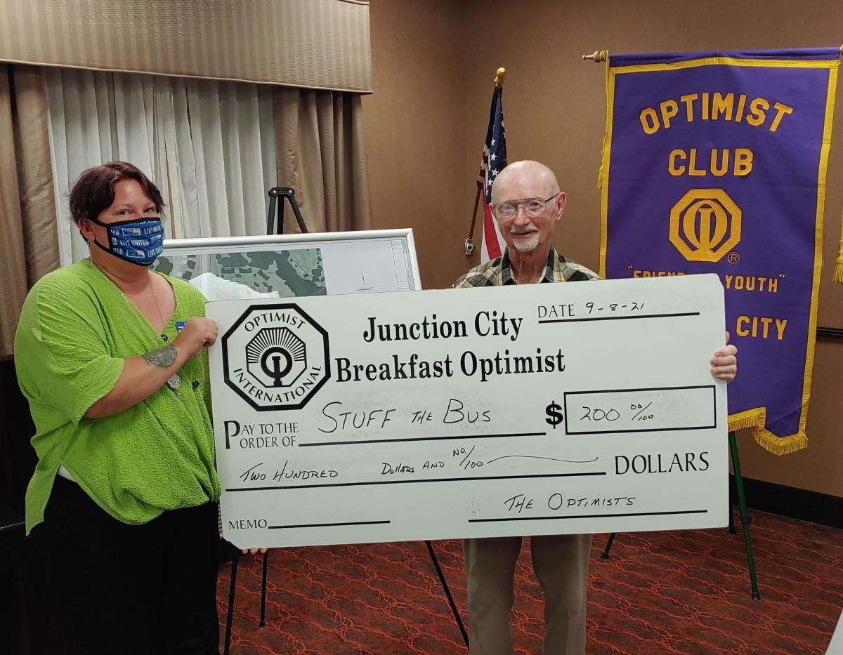 JC Breakfast Optimist Club Donates To Stuff The Bus - 2021