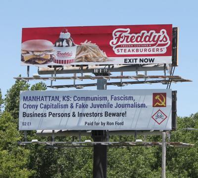 New Junction City billboard slams Manhattan