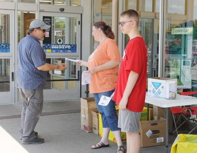 Local shoppers stuff the bus