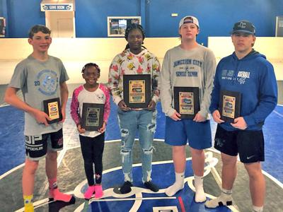 Five kids club wrestlers place at state