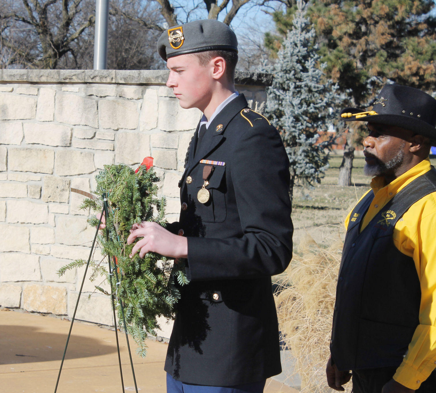 JROTC honors Buffalo Soldiers during Wreaths Across America ceremony