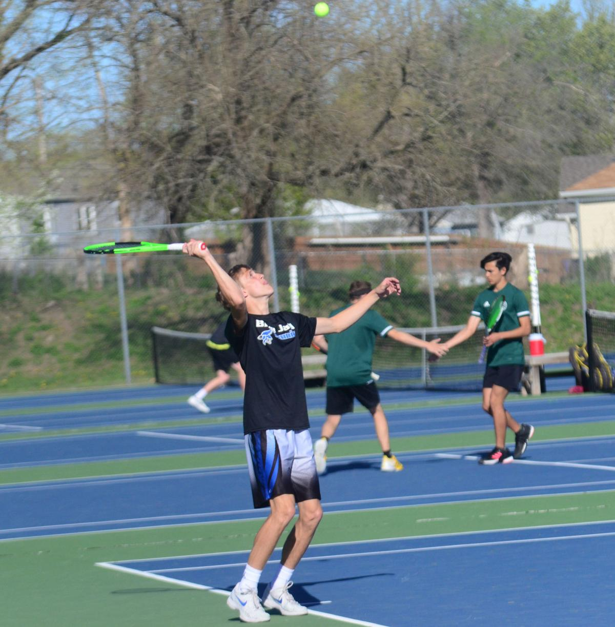 Blue Jay tennis ties for second at home invitational