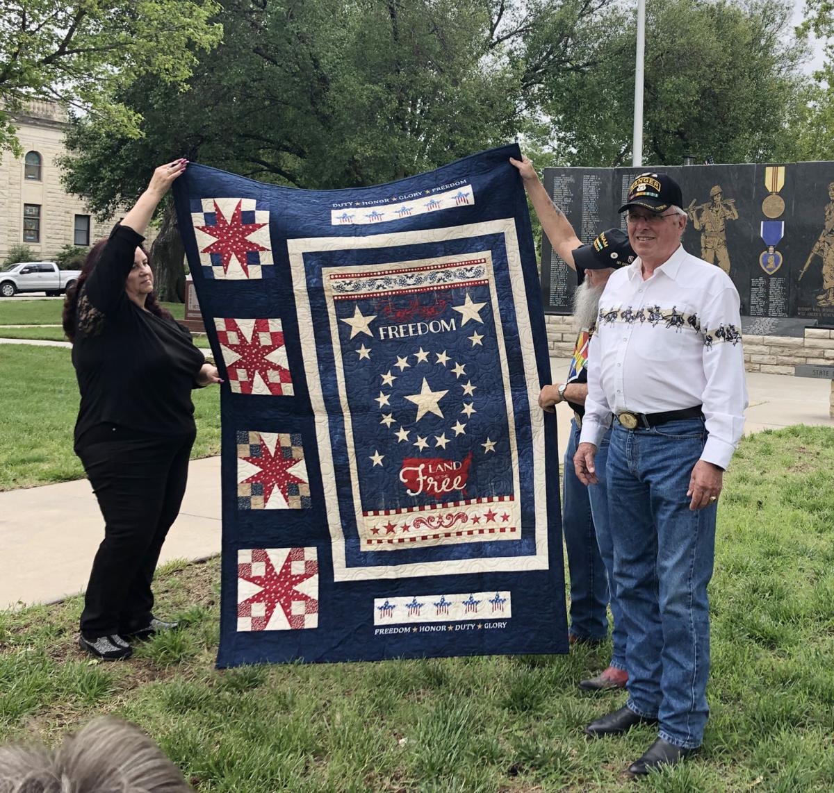 Three local veterans awarded Quilts of Valor