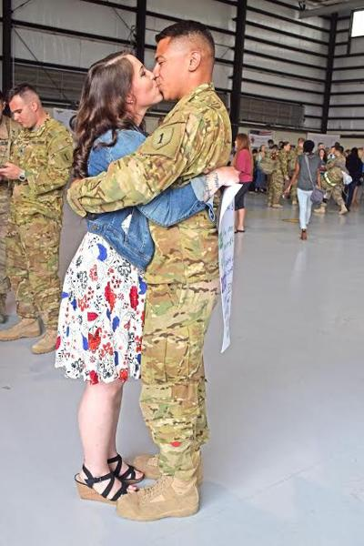 Soldiers reunited with loved ones Wednesday