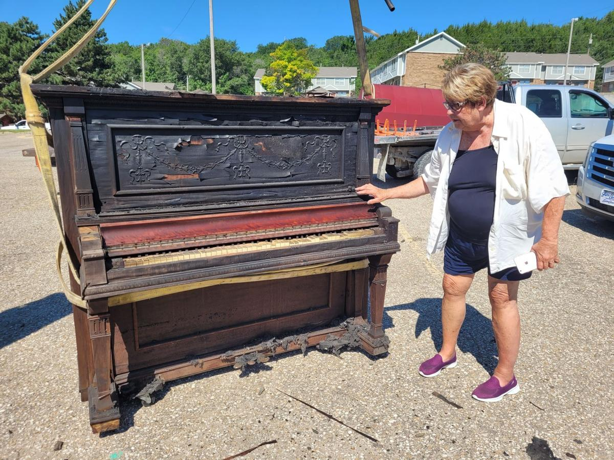 Piano pulled from the wreckage of Munson's Prime