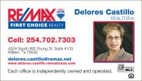 Real Estate Agents Killeen Tx 254-702-7303 Delores Castillo