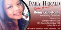 Remy Crisostomo Killeen 254-501-7527