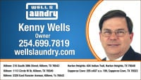 Kenny Wells Killeen TX 254 254-699-7819 Wells Laundry
