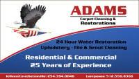 Water Restoration Copperas Cove 254-394-0046 Adams Carpet & Restoration