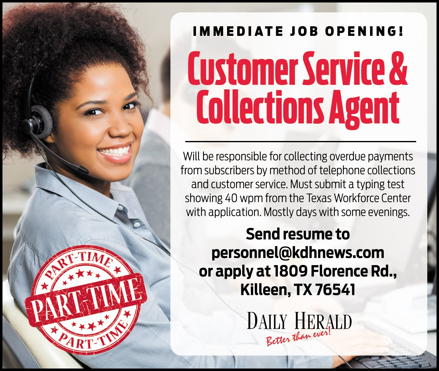 Customer Service & Collections Agent