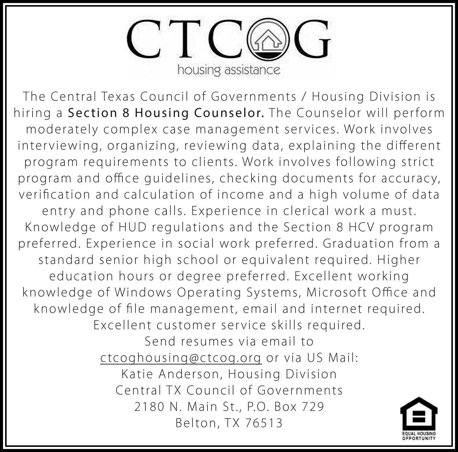 CTCOG/Housing