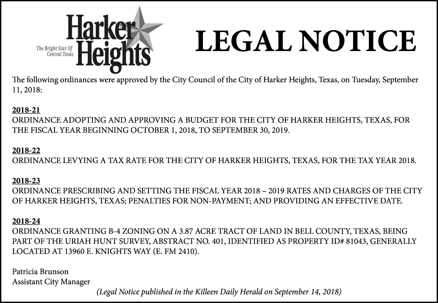 City of Harker Heights