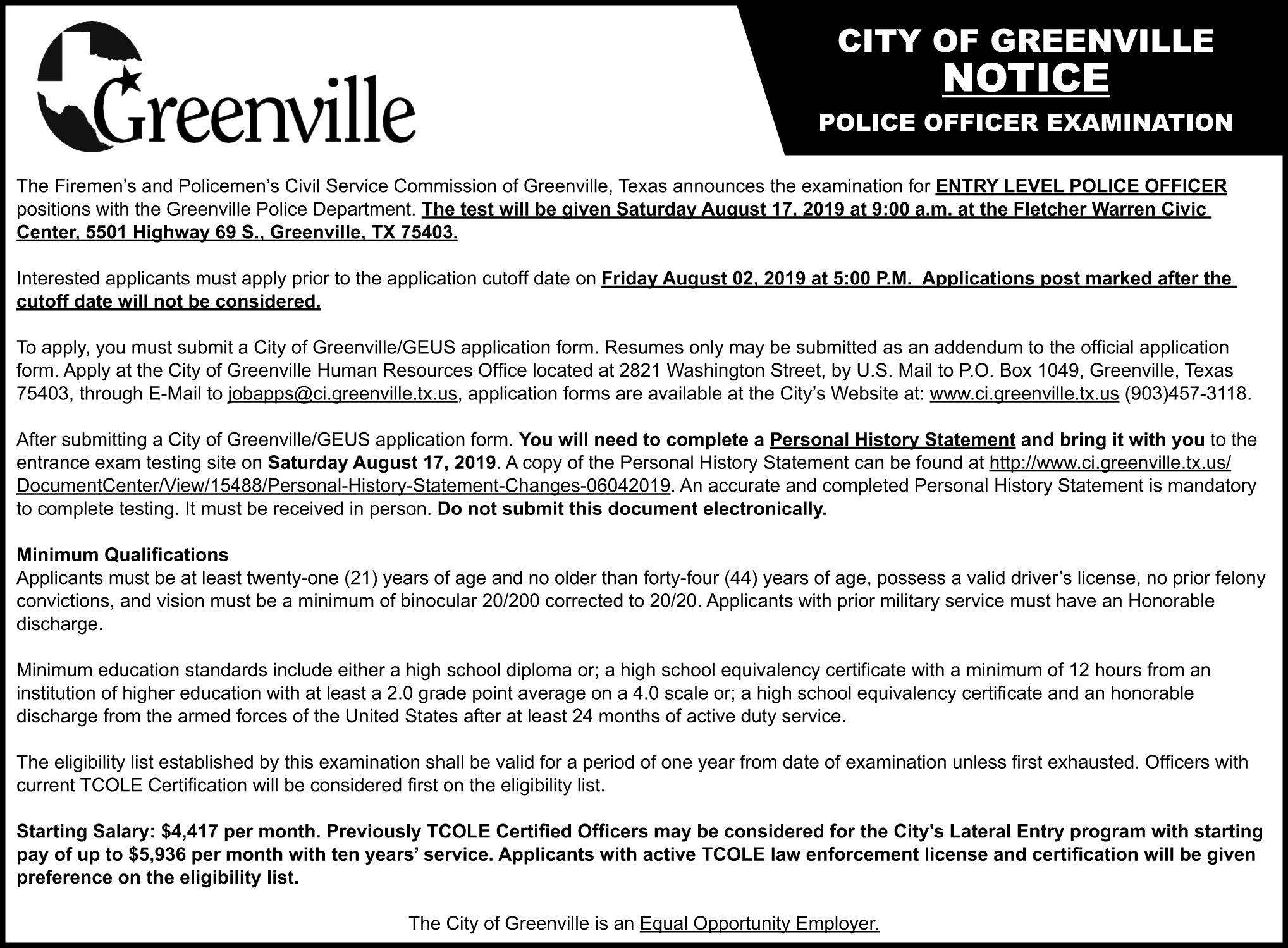 City of Greenville