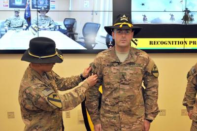 Troops Receive Combat Patch In Proud Tradition