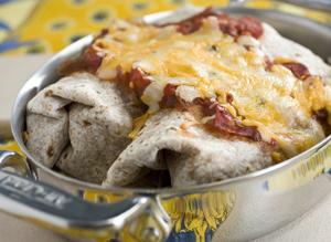 A healthy burrito for Mardi Gras