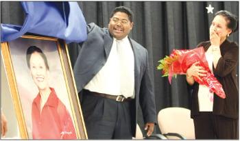 KISD board member honored