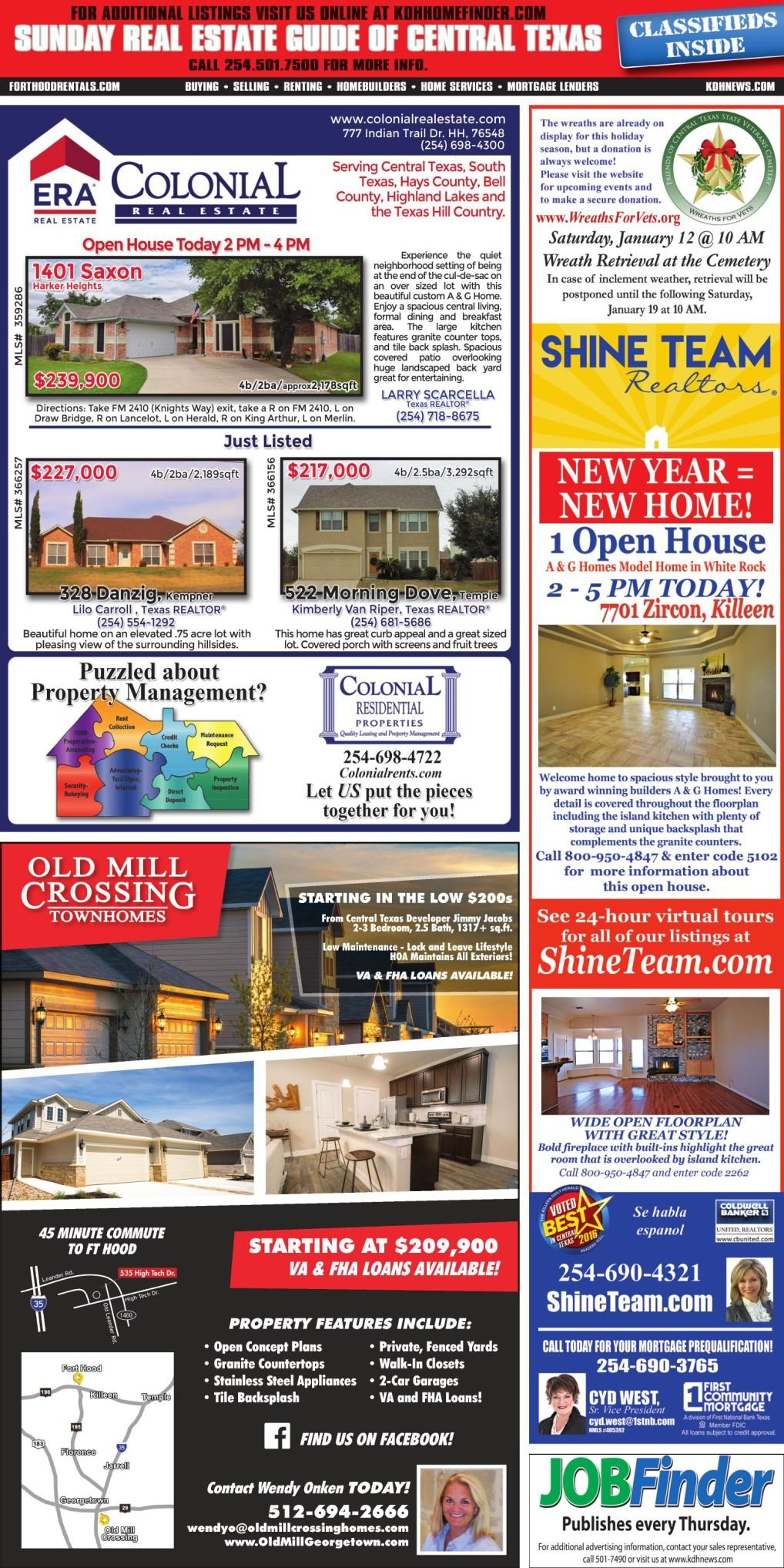 Sunday Real Estate Guide Jan. 6th