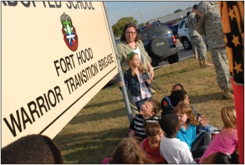 Warrior Transition Brigade partners with Clarke Elementary