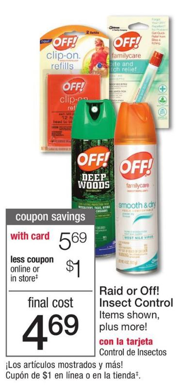 Off Bug Repellent At Walgreens Save Up To 60 Off Save A Lot