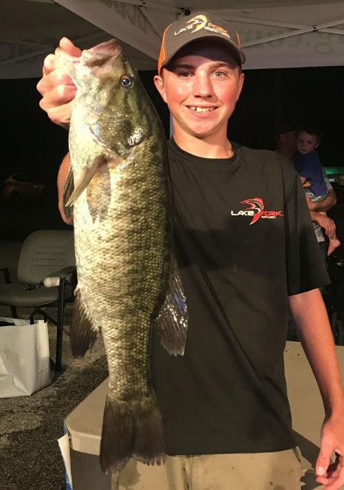a line haircut bob maindelle cove teen lands junior record smallmouth at 9459