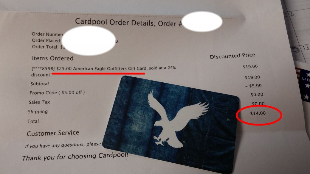 25 American Eagle Gift Card For 14 Never Pay Full Price