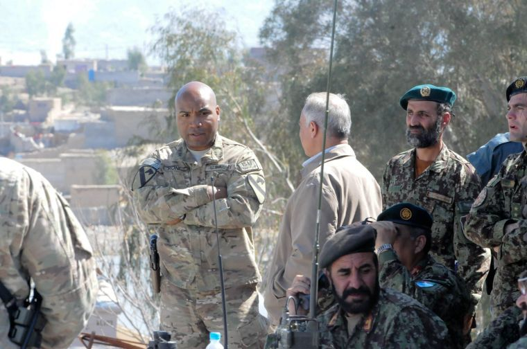 Afghan army trains to lead combat operations