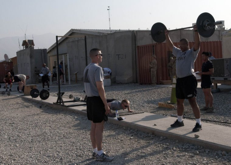 Fitness community takes part in 'Crossfit For Hope' on FOB Gamberi