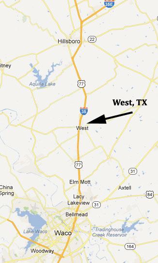 West, Texas Map   House Files   kdhnews.com