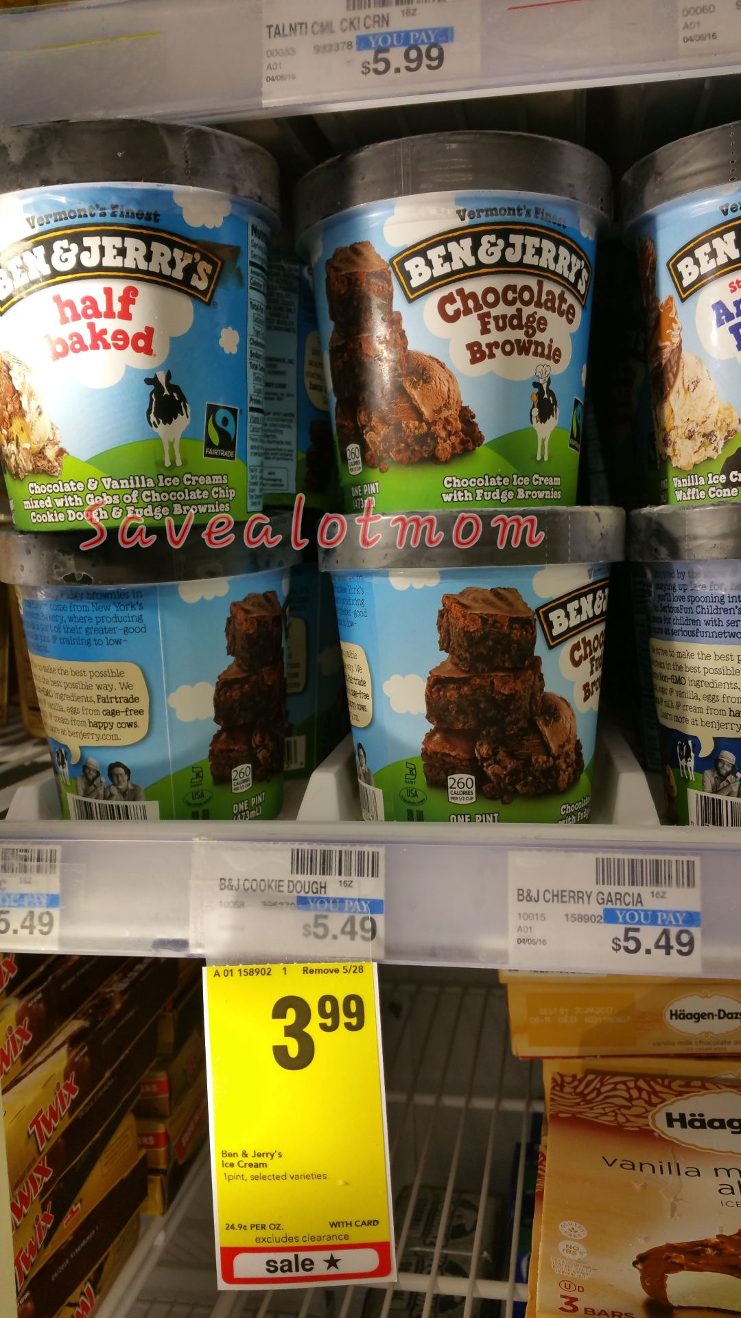 sale on ben jerry ice cream at cvs save a lot mom