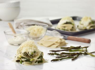 Personal Asparagus Lasagnas